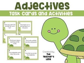 Adjectives Task Cards Grammar Practice