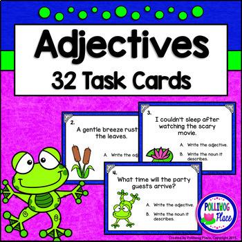 Adjectives Task Cards - Grammar Practice