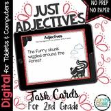 Adjectives Digital Task Cards- 2nd Grade Grammar for Google Classroom Use