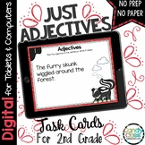 Adjectives Digital Task Cards- 2nd Grade Grammar for Googl