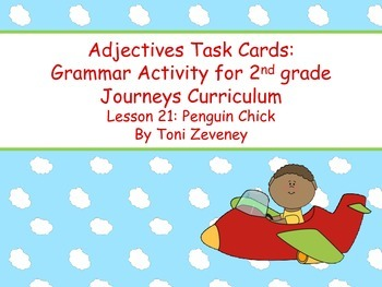 Adjectives Task Cards for Journeys Grade 2