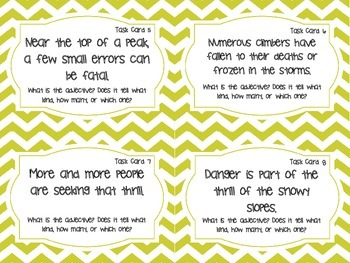 Adjectives Task Cards (grades 3 - 5)