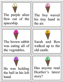 Adjectives Task Cards/Activities