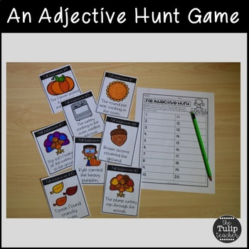 Thanksgiving Adjectives {Activities, Anchor Chart, & Quiz}