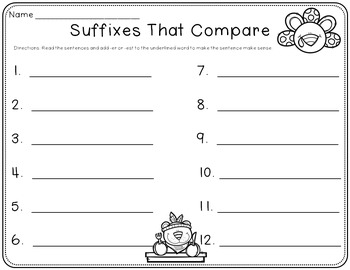 Adjectives That Compare (Suffixes -er, -est) Read the Room & Mimio Combo
