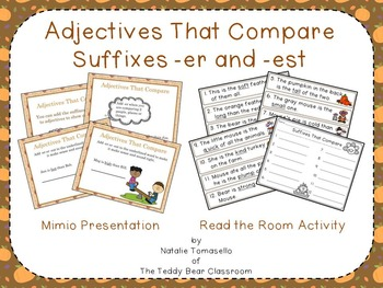 Adjectives That Compare (Suffixes -er, -est) Read the Room
