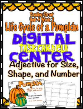 Adjectives That Describe Size, Shape, & Number Digital Ctr Reading Street U4 W2