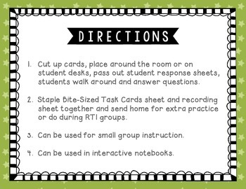 Adjectives Tiny Task Cards