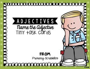 Adjectives Tiny Task Cards