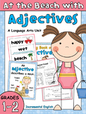 Adjectives Worksheets and Activities - At the Beach with A