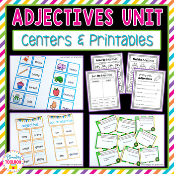 Adjectives Unit (Kindergarten-2nd Grade)
