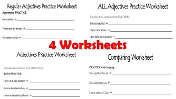 Adjectives Unit Pack: PPT Lessons, Worksheets, Writing Prompts, Vocab  Project