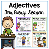 Adjectives Worksheets and Adjectives Activities with Reading Passages   seasons