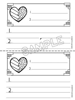Valentine  Adjective Mini Books and more!