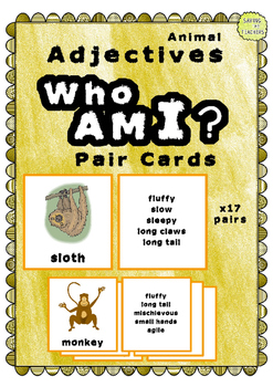 #HappyEasterDeals - Adjective Pair Cards - Who Am I Game
