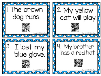 Adjectives With QR Codes {Includes 24 Task Cards}