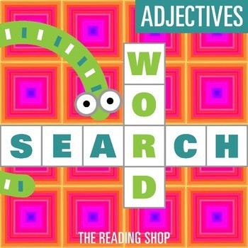 Adjectives Word Search - Primary Grades - Wordsearch Puzzle