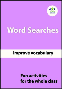 Adjectives Word Searches