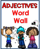 Adjectives List - 100 Adjectives Word Wall with Pictures