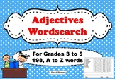 Adjectives Wordsearch Worksheets for Grades 3 to 5