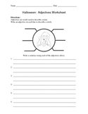 Adjectives Worksheet / Halloween / Witch