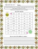 Adjectives Worksheet - Spring Theme