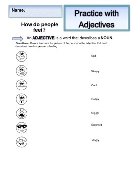 Adjectives Worksheets (2): Emotions/Feelings