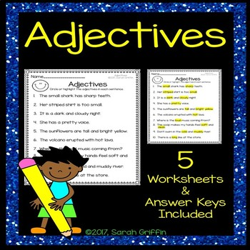 Adjectives Practice Worksheets