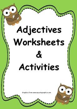 Adjectives Worksheets & Activites
