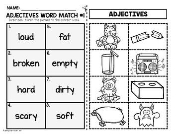 Adjectives Worksheets FREEBIE
