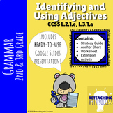 2nd & 3rd Grade Adjectives Worksheets and PowerPoint L.2.1
