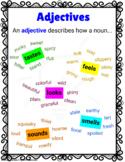 2nd & 3rd grade Adjectives Anchor Chart L.2.1.e, L.3.1.a
