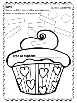 Adjectives Writing Activities - Sprinkle Adjectives