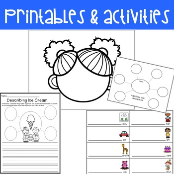 Adjectives: activities, mini lessons, printables and sentence practice