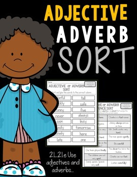 FREEBIE! Adjectives and Adverbs Sort