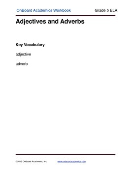 Adjectives and Adverbs 2