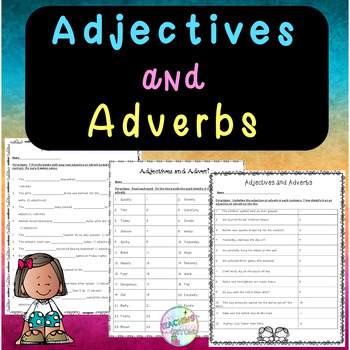No-Prep - Adjectives and Adverbs