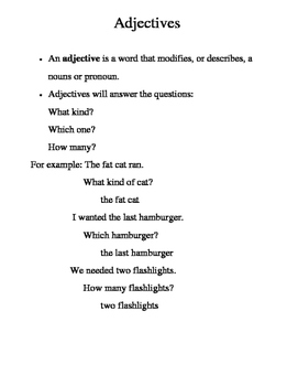 Adjectives and Adverbs ANSWER KEY