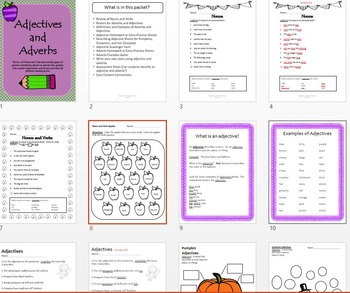 Adjectives and Adverbs Activity Packet