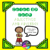Adjectives and Adverbs Grammar Practice - Color By Code!