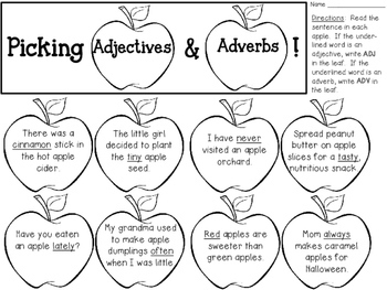 Adjectives and Adverbs Craftivity FREEBIE