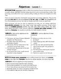 Adjectives and Adverbs Grammar Worksheets. 13 Lessons. Gra