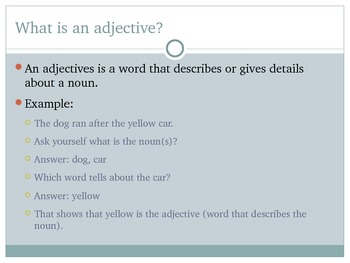 Adjectives and Adverbs PowerPoint for teaching Common Core Standard 2L1e