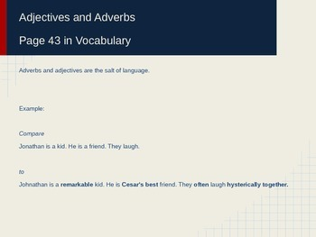 Adjectives and Adverbs Powerpoint for ESL
