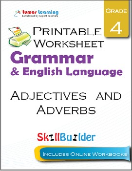 Adjectives and Adverbs Printable Worksheet, Grade 4