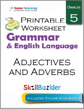 Adjectives and Adverbs Printable Worksheet, Grade 5