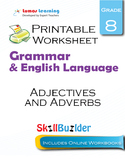 Adjectives and Adverbs Printable Worksheet, Grade 8