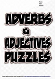 Adjectives and Adverbs Puzzles Combo