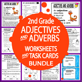 Adjective Adverb Activities & Task Card Bundle + 16 Adjective Adverb Worksheets