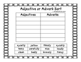 Adjectives and Adverbs Sort-Free